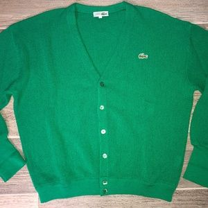 Vintage CHEMISE LACOSTE Cardigan Sweater France